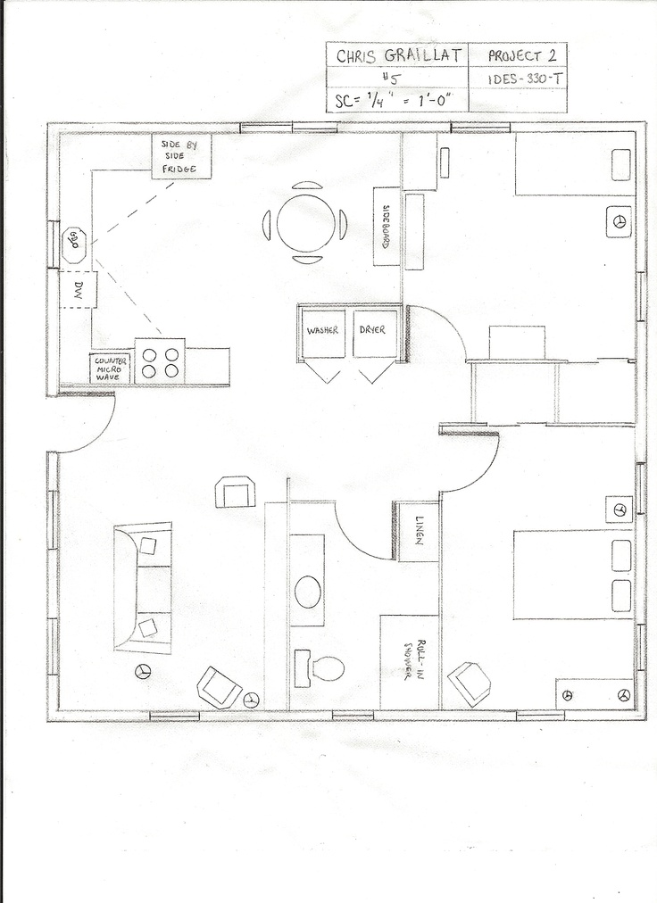 Ada compliant cottage floor plan floor plans pinterest for Cottage floor plan