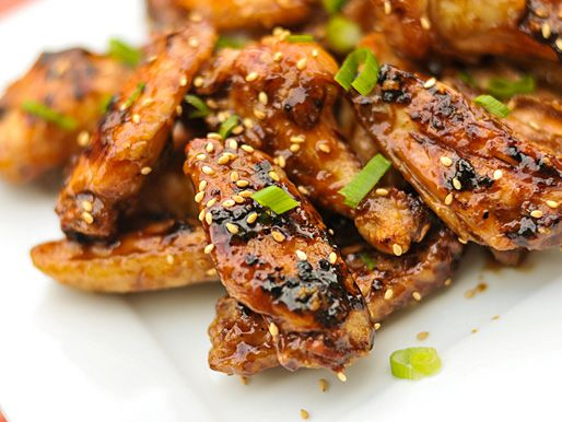 Hoisin Glazed Chicken Wings...I would go boneless by using the breast ...
