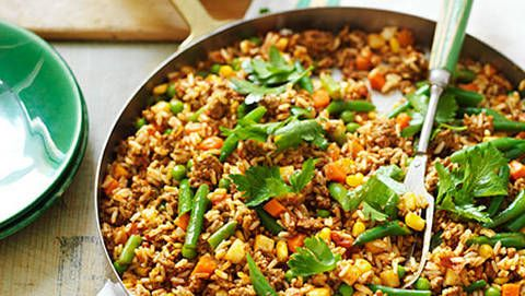 Curried Beef Mince And Rice Recipe