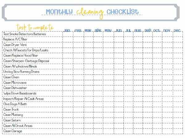 cleaning template checklist. cleaning schedule template 33 free