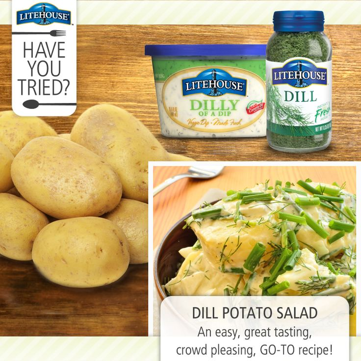 Use #Litehouse dilly dip on your potato salad this summer for a quick ...
