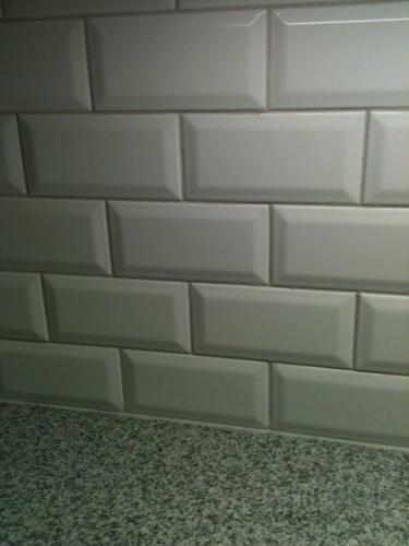 beveled subway tile basement bath house home pinterest