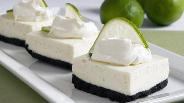 No-Bake Lime Cheesecake Squares | DOCES | Pinterest