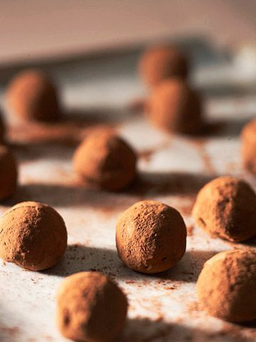 cinnamon and chocolate truffles rolled in cocoa and ground ancho chile ...