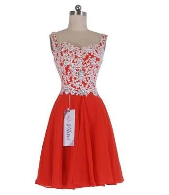 Short Red Prom Dresses With Straps - Prom Dresses Cheap