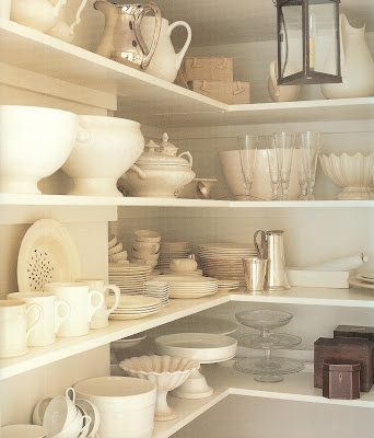 Home Decorating on Open Shelves   White   Home Decor