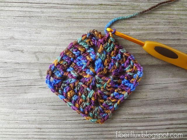 Solid granny square crochet pinterest