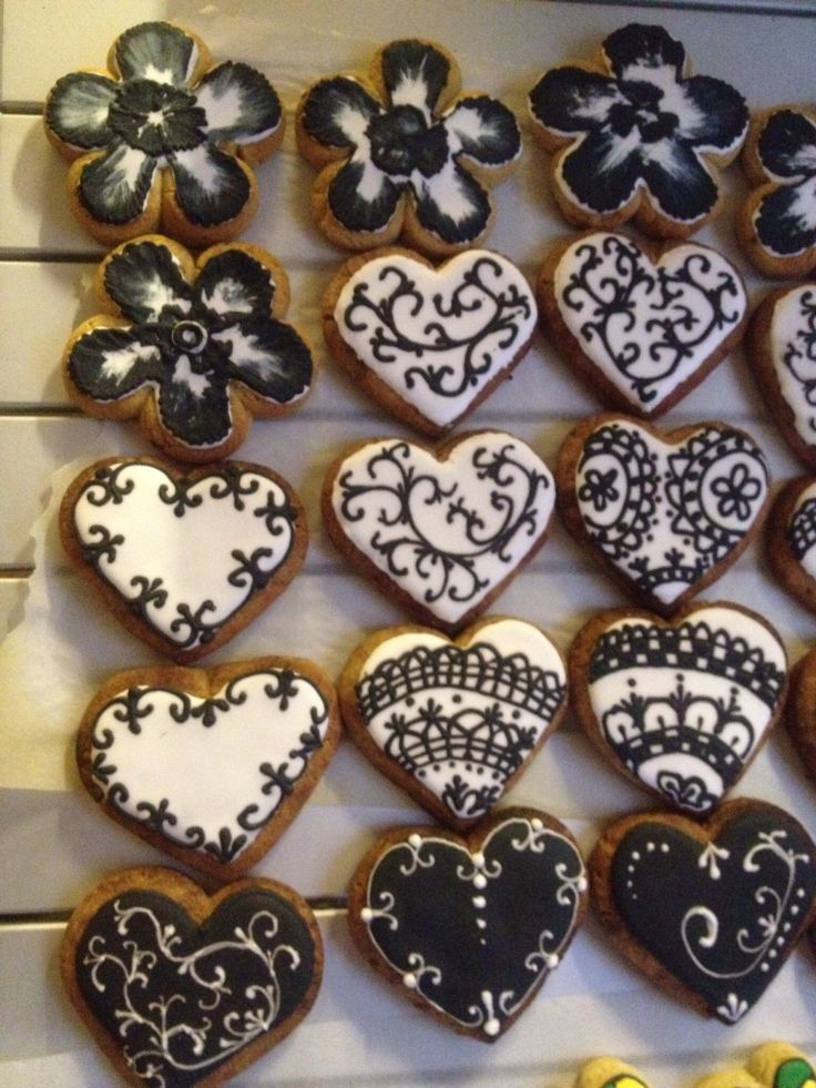 Black and white cookies   Cookies/Black & White   Pinterest