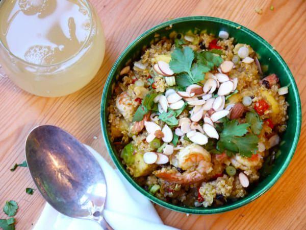 Stir Fried Pineapple & Shrimp Quinoa | Fish and Seafood | Pinterest