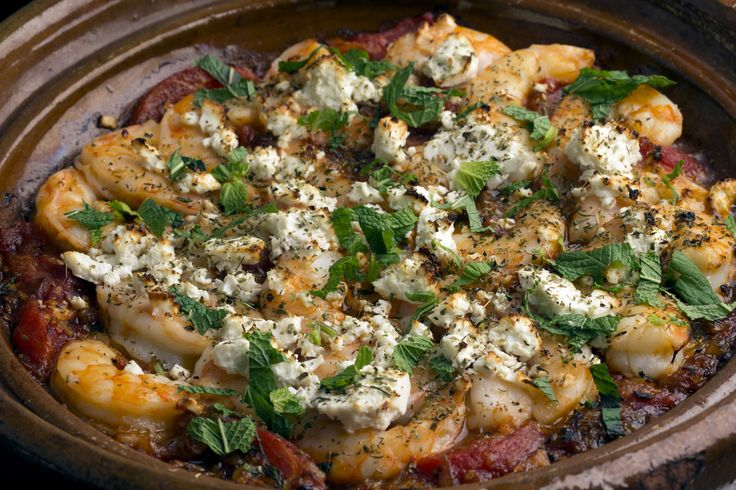 Baked Greek Shrimp With Tomatoes and Feta   Recipe