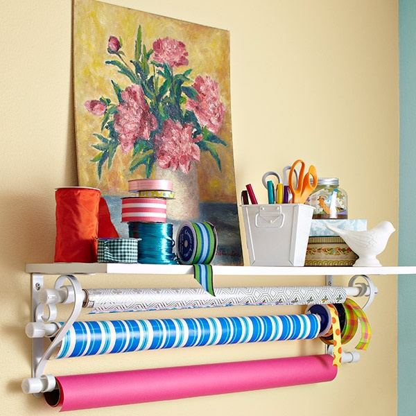 DIY  Wrapping Shelf  TUTORIAL    Why Didn't I THink Of This One???   :)