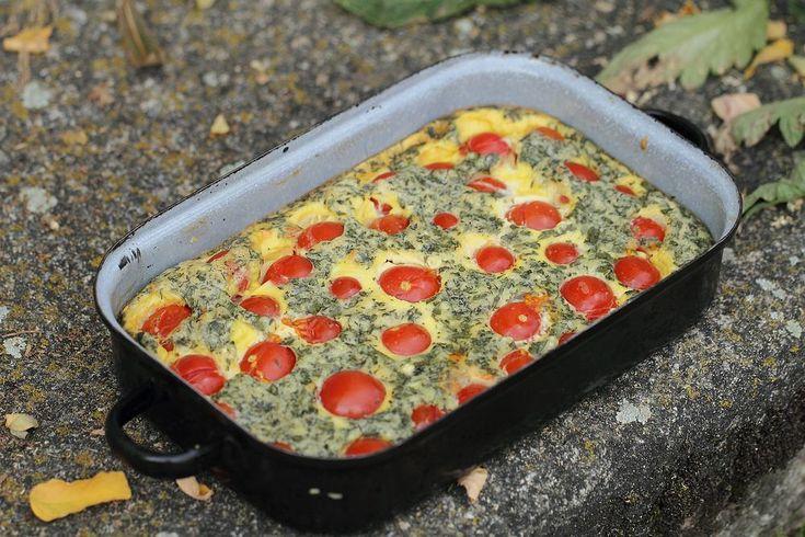 Cherry tomato clafoutis | koken / bakken | Pinterest