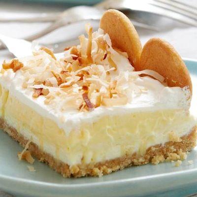 Mom's texas delight… looks delightful! {Layered Coconut Cream}