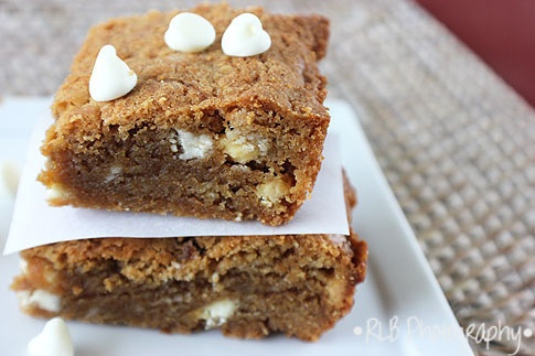 White Chocolate Biscoff Blondies by The Curious Country Cook.