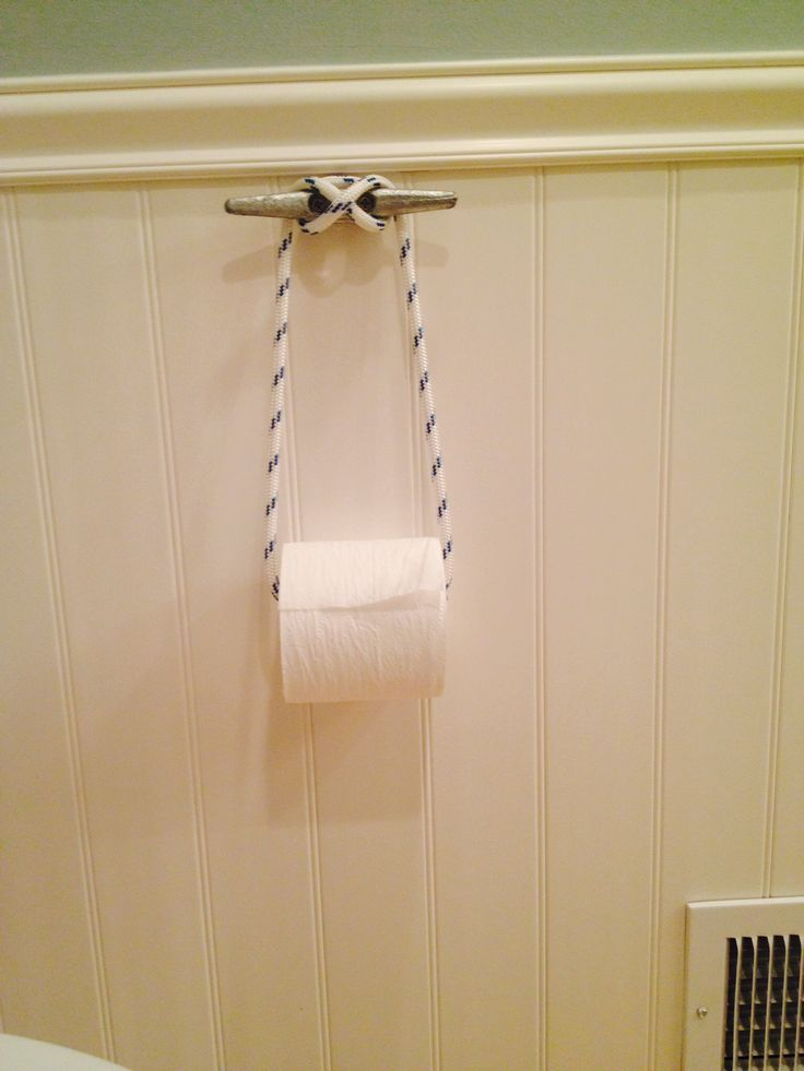 Boat cleat toilet paper holder 3 ft of 5 16 rope 1 6 quot cleat w two