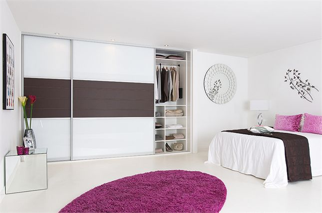 Bedrooms Design Fusion Collection White Glass And Brown Leather