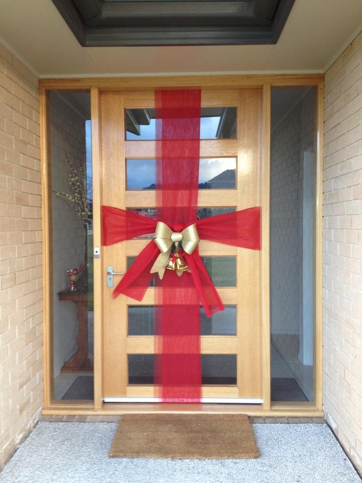 Christmas door bow holiday pinterest