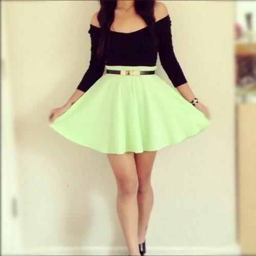 Green teen dresses topic