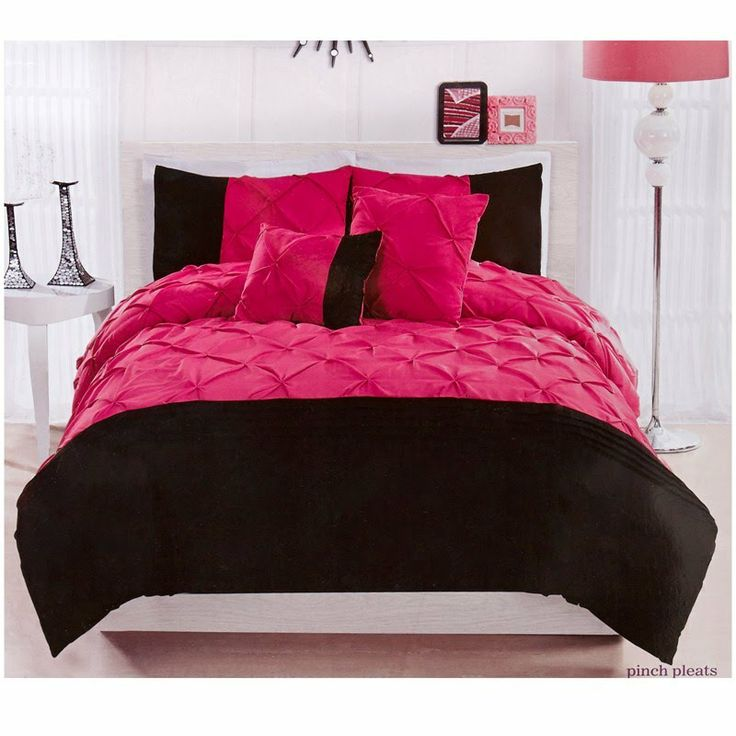 black and pink twin comforter sets