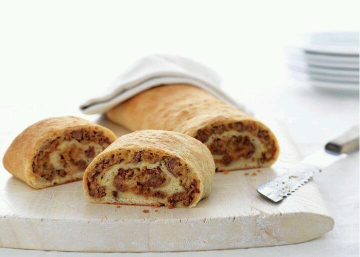 Bacon Cheeseburger Roll-Up | Foods | Pinterest
