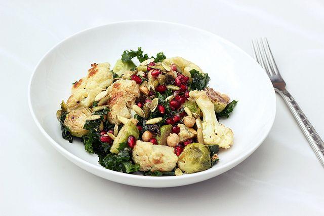 autumn harvest salad w/ horseradish vinaigrette | vegan + gluten-free