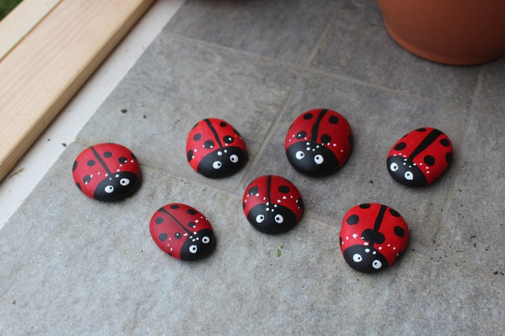 Images Of Rocks Painted Like Ladybugs