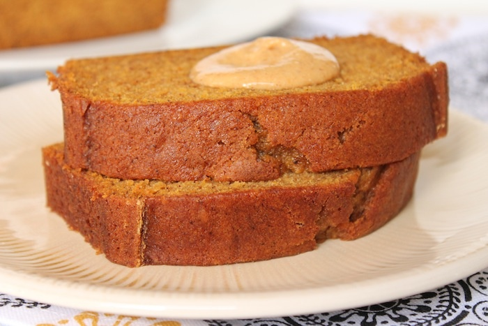 Pumpkin Spice Bread with Pumpkin Cream Cheese Spread