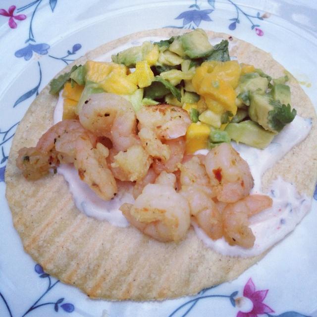 Shrimp With Avocado-Mango Salsa Recipe — Dishmaps