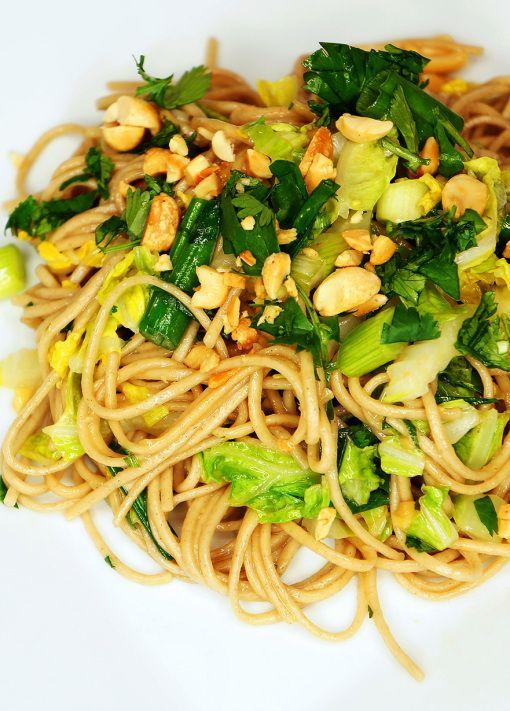 easy garlic ginger soba noodles | Food!