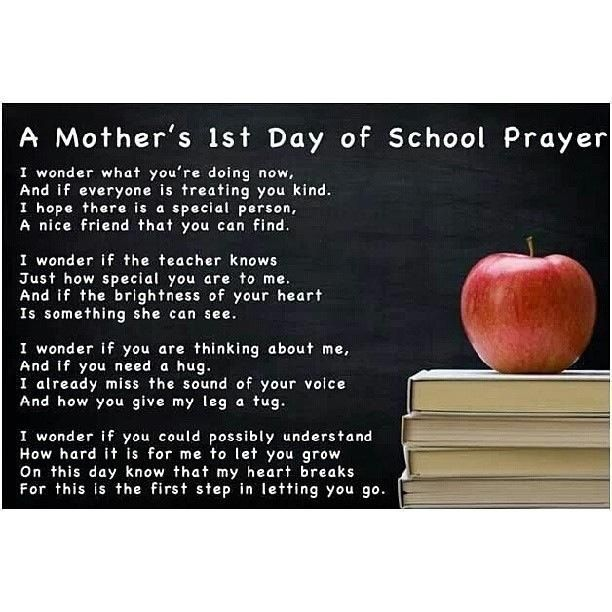 1st Day of School Prayer