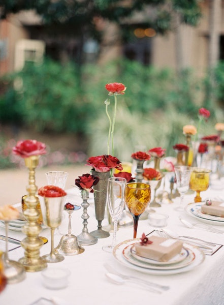 Single flowers centerpieces weddings pinterest