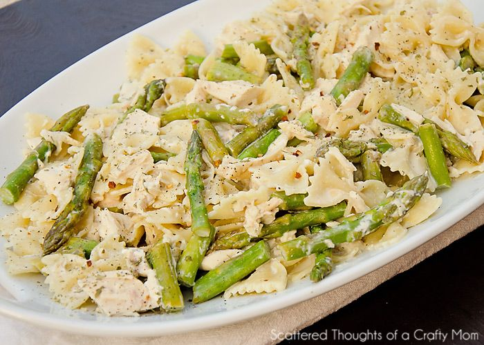 Chicken & asparagus with pasta. | Dining Chez Corcelli | Pinterest