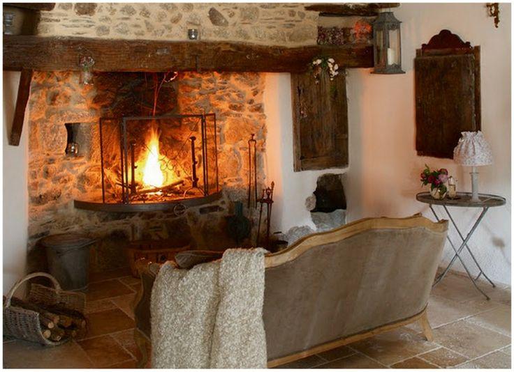 Farmhouse fireplace farmhouse style pinterest for Cheminee shabby chic
