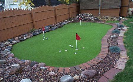 backyard putting green landscaping pinterest