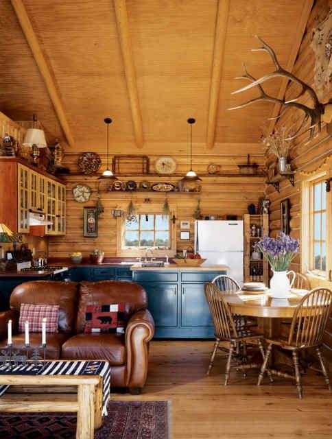 Cozy kitchen a small cabin on a lake one day pinterest for Small cozy kitchen ideas