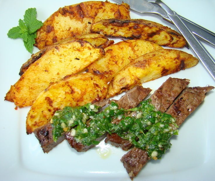 Grilled Marinated Flank Steak with Chimichurri Sauce | Recipe