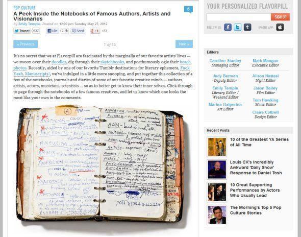 Notizbücher berühmter Leute #notebook #diary #stationery #notizbuch #tagebuch #papier #notizbuchblog