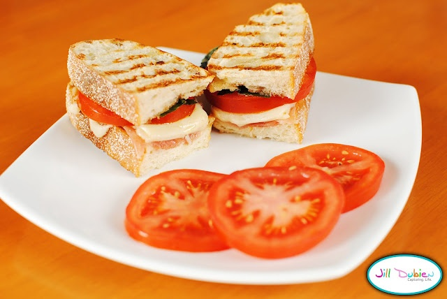 ... mozzarella, tomato & basil panini -- can I do this without a panini