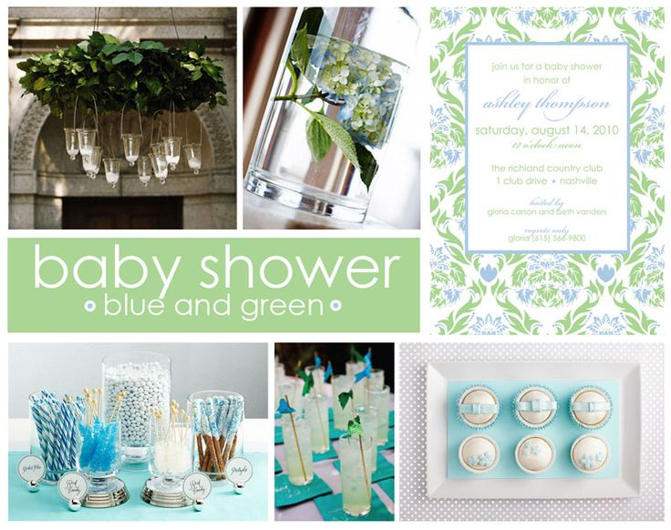 blue and green baby shower pinterest