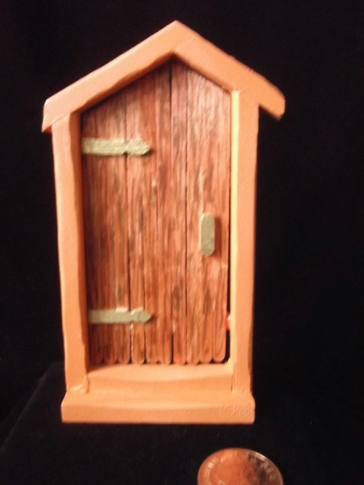 Unique hand made miniatures wooden fairy gnome door for for Wooden fairy doors