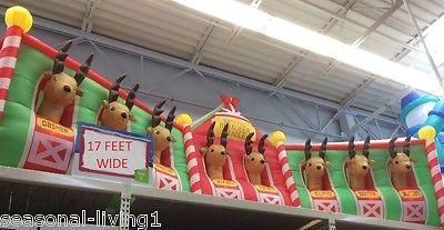 RARE Huge 17.7 FT Reindeer Stable Christmas Inflatable ...