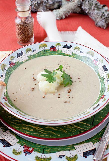 Cauliflower_Soup_Coriander | Nom | Pinterest