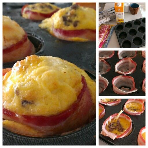 Egg and bacon cupcakes | Cupcakes | Pinterest