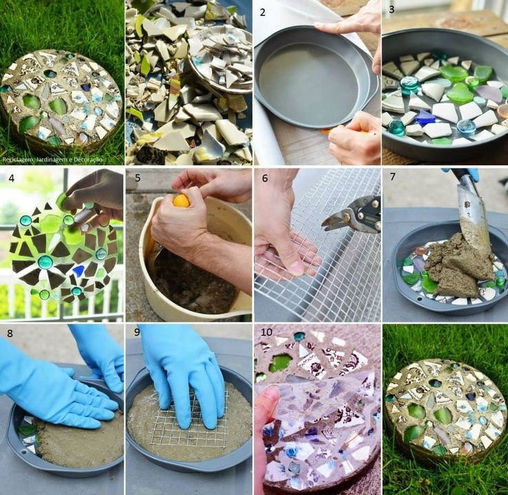 Homemade stepping stones diy pinterest for Diy garden stepping stones