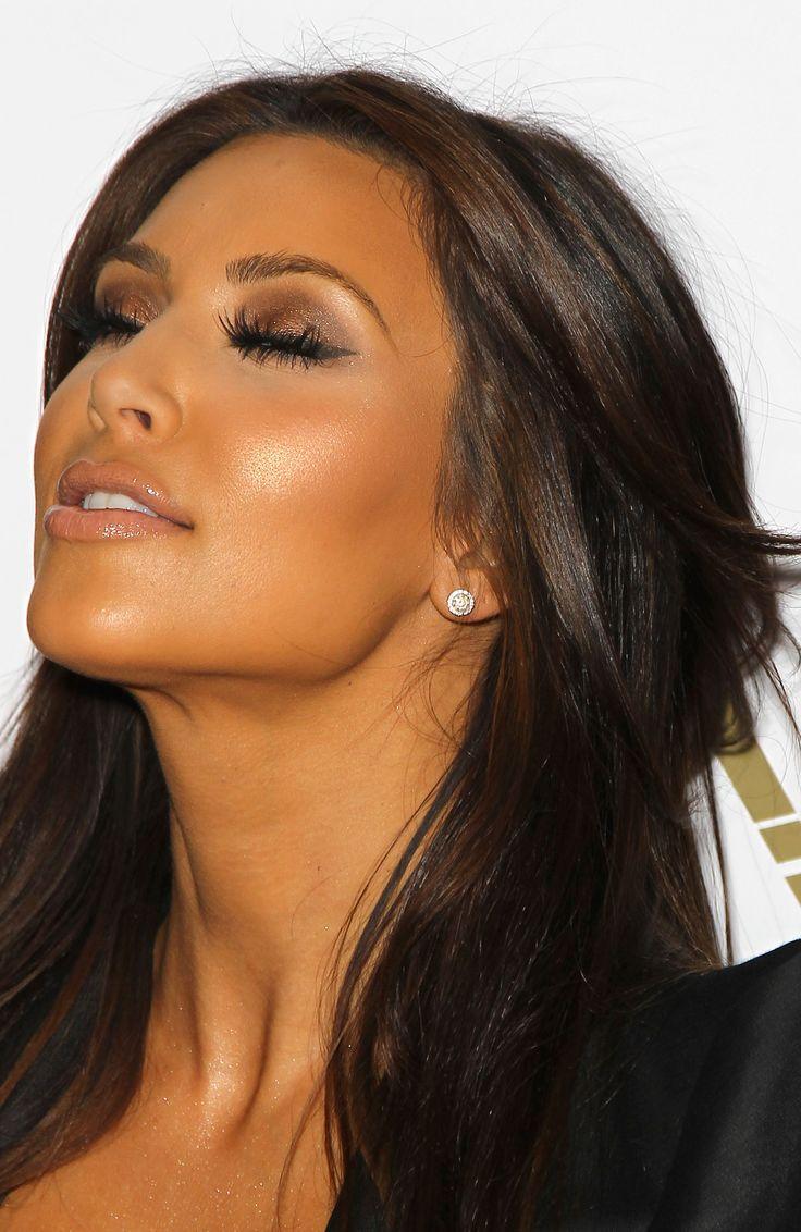 brown bronze eyes makeup kim kardashian kardashian glow