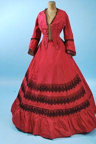 1860's Beautiful Red Dress