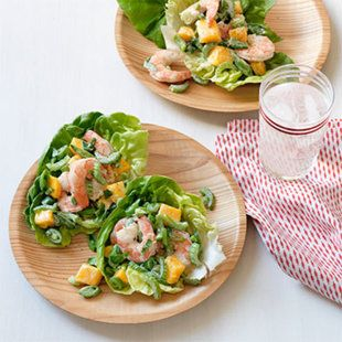 Shrimp & Mango Lettuce Cups. The crunch in these succulent shrimp cups ...