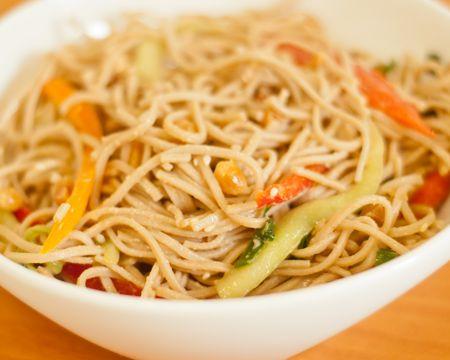 Cold Peanut Sesame Noodles | Dinner | Pinterest