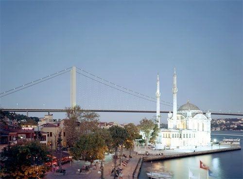 Đại thánh đường Imperial và cây cầu Bosporus