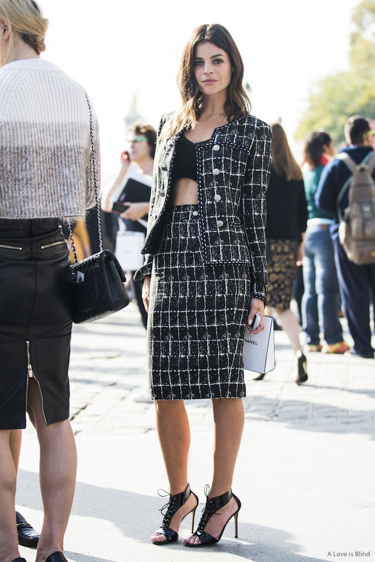 #JuliaRestoinRoitfeld looking totally brilliant in Chanel. Paris.